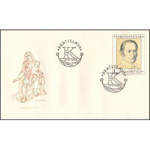 2461-2465 FDC (série) - Umění 1980