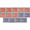 PČM D1-D14 (série) - Známky doplatní
