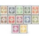 PČM SL1-SL14 (série) - Služební známky