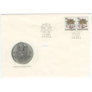 2874 FDC - 20. výročí československé federace