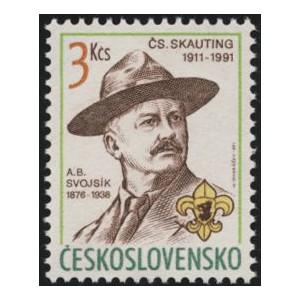 2966 - 80. výročí československého skautingu - A. B. Svojsík