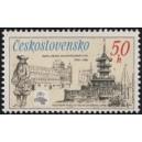 2836 - Pošta Praha Malostranské náměstí a televizní vysílač Velká Javorina