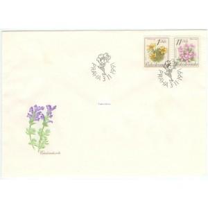 2990-2993 FDC (série) - Ochrana přírody - chráněná květena