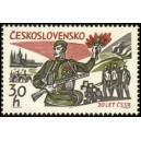 1439 - Voják se samopalem, barikádníci, Hradčany