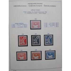 Československo 1945-1953 komplet na listech Schaubek