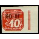 PČM OT1 (pravý okraj) - Známka pro obchodní tiskopisy