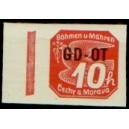 PČM OT1 (levý okraj) - Známka pro obchodní tiskopisy