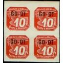 PČM OT1 (4blok) - Známka pro obchodní tiskopisy