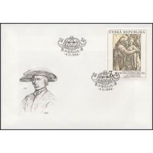 0057-59 FDC (série) - Umělecká díla na známkách