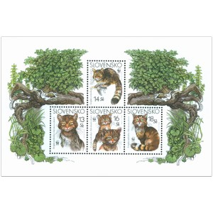 0299-302A (aršík) - Ochrana přírody: Kočka divoká (WWF)
