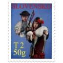 0414 - Děvče s ovečkou a chlapec s pomlázkou