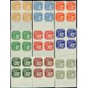 PČM NV10-NV18 (série 4bloků DO) - Novinové známky