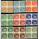 PČM NV10-NV18 (série 4bloků) - Novinové známky