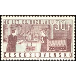 1311-1312 (série) - 40. výročí Československého rozhlasu