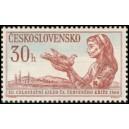 1117 - Zdravotní sestra Červeného kříže s holubicí