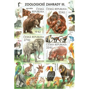 0991-994A (aršík) - Ochrana přírody: Zoologické zahrady III.