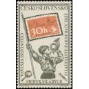 0948 - Pionýr s trubkou a standartou v podobě poštovní známky