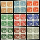 PČM NV1-NV9 (série 4bloků) - Novinové známky