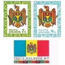 Mi MD 1-3 (série) - Státní symboly Moldavské republiky