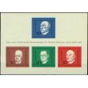 Mi DE 554-557A (aršík) - 1. výročí úmrtí Dr. Konráda Adenauera