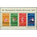 Mi DE 734-737A (aršík) - Letní olympijské hry Mnichov 1972