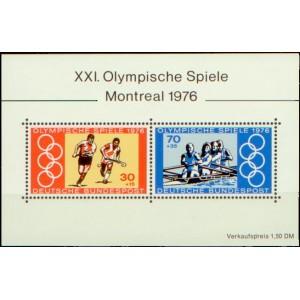 Mi DE 888-889A (aršík) - Letní olympijské hry Montreal 1976