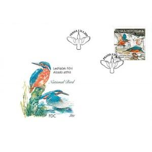 1026 FDC - EUROPA: Národní ptáci – Ledňáček říční