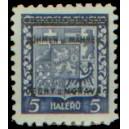 PČM 1 - Státní znak ČSR s přetiskem