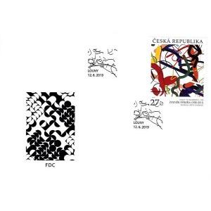 1033 FDC - Umění: Zdeněk Sýkora: Linie č. 56 (Humberto)