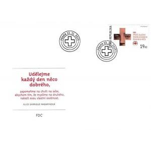 1053 FDC - 100. výročí založení Československého červeného kříže
