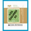 VZ 0995 - Žilkovaná čtyřka s přetiskem Pošta československá 1919