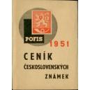 Katalog československých známek POFIS 1951