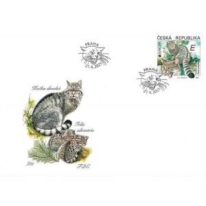 1116 FDC - EUROPA: Ohrožená národní divoká zvěř - kočka divoká