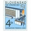 0176 - 125. výročí Světové poštovní unie - Automatická třídící linka