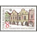 Barokní štíty domů v Telči - UNESCO