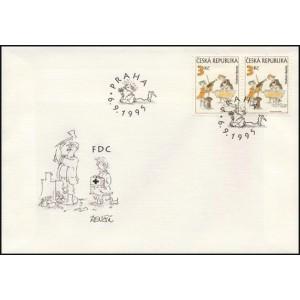 0083-85 FDC (série) - Český kreslený humor